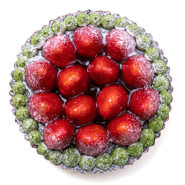 苺とピスタチオのタルト